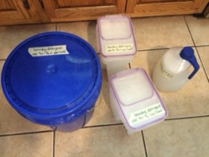 Homemade Laundry Detergent Containers