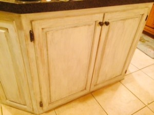 Kitchen Island Cabinet After
