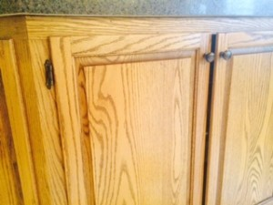 Whitewashing Honey Oak Kitchen Cabinets: The Process Begins ...