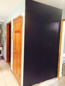 Chalkboard Wall 2nd Coat