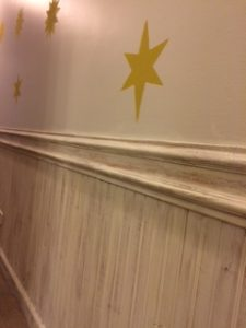 Beadboard Hallway Wall Stars Beadboard After Closeup